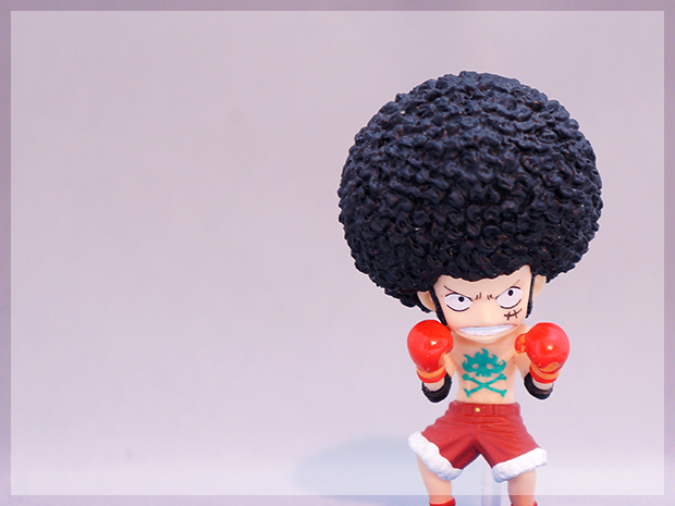 Luffy-afro-hair