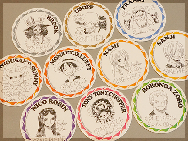 One Piece cardboard coasters