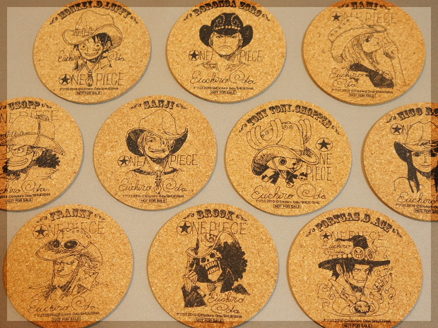 One Piece cork coasters