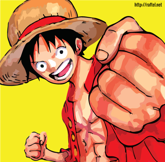 Luffy - Posterized image